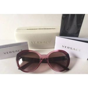 New Auth Versace MOD 4306-Q 5151/14 Medusa leather
